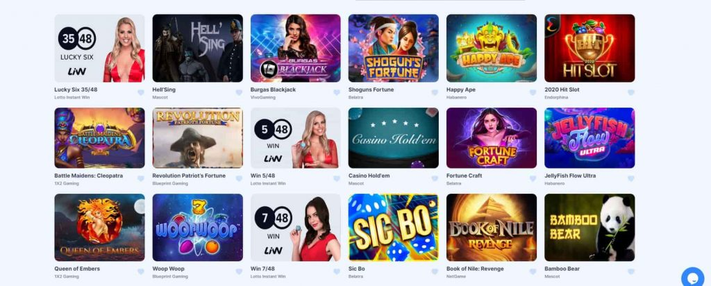 IceBet Casino pelivalikoima